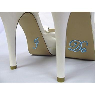 Something Blue  I Do  Rhinestone Stickers for Bridal Shoes - Designed for Wedding Bride Shoes
