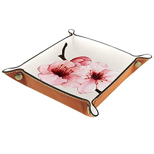 Persika blomster vår resetjänst bricka för sängbord eller entré