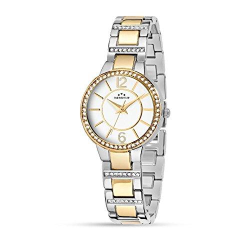 CHRONOSTAR Orologio Analogico Quarzo Donna con Cinturino in Acciaio Inox R3753247512