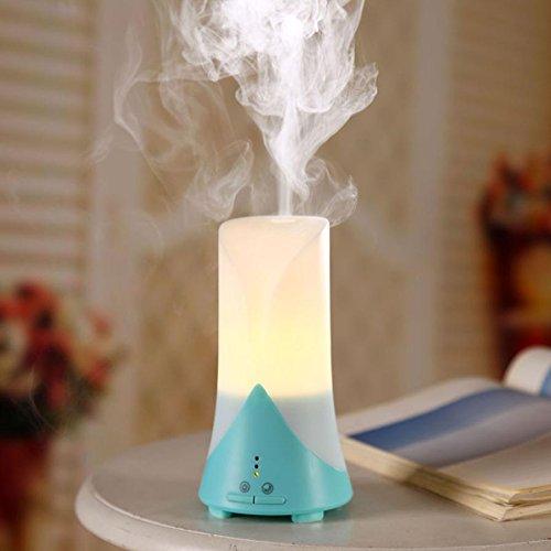 YL Usb Mini Aromaterapia Máquina Humidificador Difusor de Aceite Esencial Ultrasonido Aromaterapia Luz Nocturna Purificador de Aire,Verde