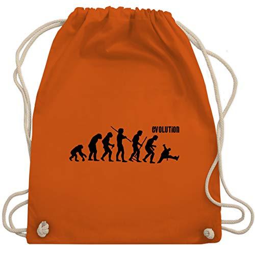 Shirtracer Evolution - Evolution Breakdance - Unisize - Orange - tanzoutfit damen - WM110 - Turnbeutel und Stoffbeutel aus Baumwolle