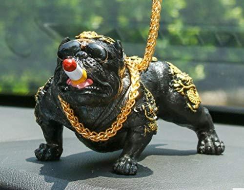 Accesorios para el coche Adorno decorativo Regalo de artesanía, Suministros creativos para el coche, gafas de sol, decoración del coche para perros, accesorios para el coche, negro dorado, Adorno par