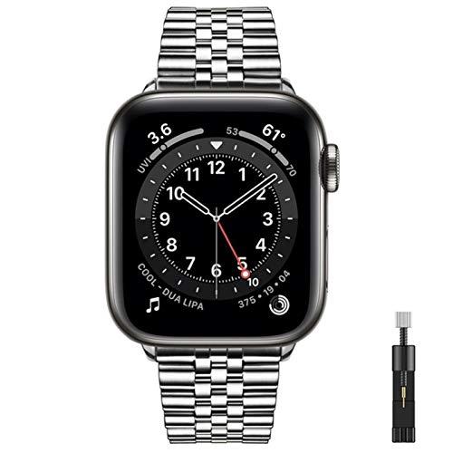 Bandas de acero inoxidable de lujo para Apple Watch 6 Se Band Series 5 4 3 Correa para pulsera Iwatch Mujeres Hombres Cinturón