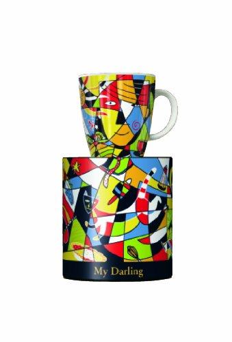 Ritzenhoff My Darling Kaffeebecher, Porzellan, Bunt, 8,9 x 8,9 x 9,5 cm