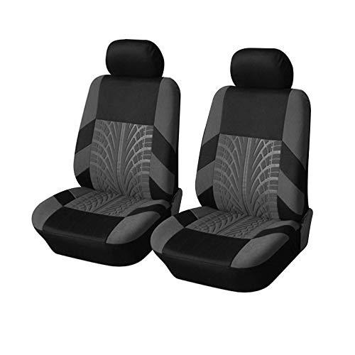 Xiaomu Juego de fundas universales (estampadas), asientos delanteros, asientos del conductor, copiloto, fundas de asiento de coche, fundas protectoras adecuadas para airbag lateral