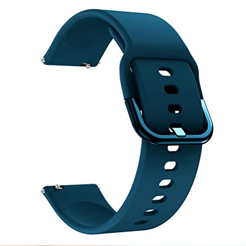 @ccessory Cinturino Compatibile con Samsung Galaxy Watch 3 45mm /46mm, 22mm Silicone Sgancio Rapido Sport Strap per Gear S3 Classic Frontier (Indaco)