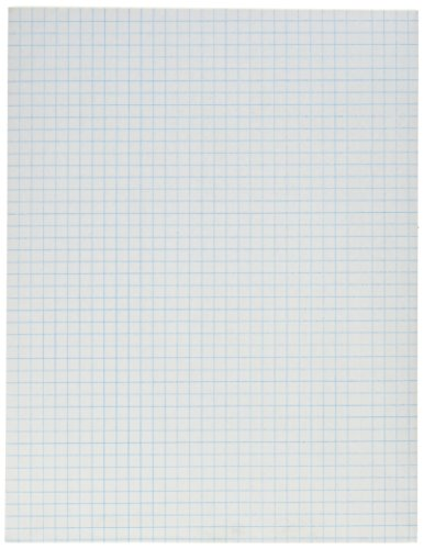 School Smart Graph Paper Pad with Chipboard Back, 8-1/2 x 11 Inches, 1/4 Inch Rule, White, Pack of 12