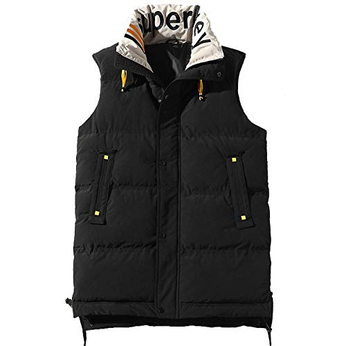 2019 Heren Gilet Waistcoat Winter Katoen Gewatteerde Mouwloze Puffer Jas Outwear Heren dikker Vest 4XL
