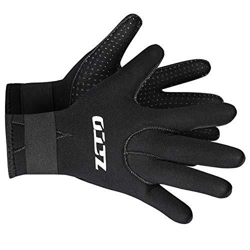 Neoprene Gloves Scuba Diving Gloves Wetsuit Dive Gloves for Men Women Kids, 3MM 5MM Flexible Anti Slip Thermal Five Finger Surfing Glove for Spearfishing Paddling Kayaking Swimming (3mm Black, L)