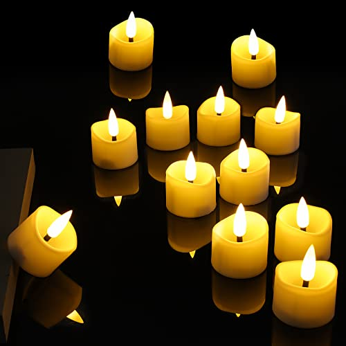 Sundom Candele a LED, Candele Senza Fiamma Candele a LED con Timer, Candela di Simulazione per Natale, Festa, Matrimonio (12 pezzi)