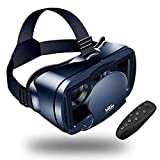 LEKAMXING VR Headset With Remote Controller Virtual Reality Headset for iPhone & Android 5.07.0inches Play Your Best Mobile Games & 360 Movies With Soft All Android Smartphone & Comfortable NEWEST