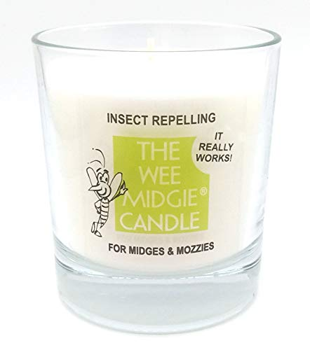 Insect Repelling - The Wee Midgie Lavender & BOG Myrtle Candle JAR for Midges & Mozzies - Midge & Mosquito Repellent Candle - 40 Hour Burn Time