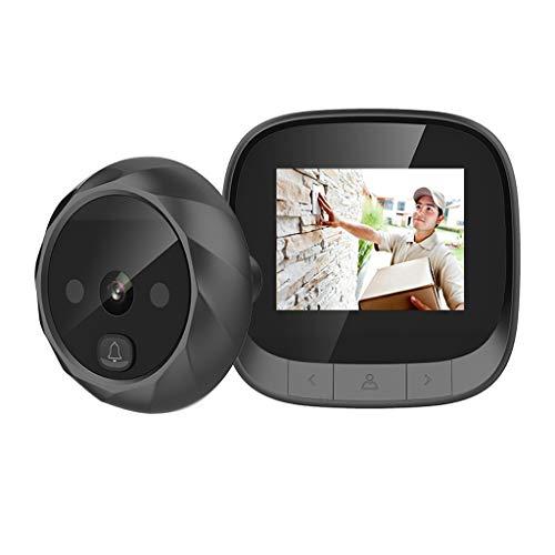 YCZDG Nuevo Visor de cámara de Puerta con Pantalla LCD de 2,4'grabación de Fotos electrónica cámara de Mirilla Nocturna Digital Timbre de Puerta de 90 Grados