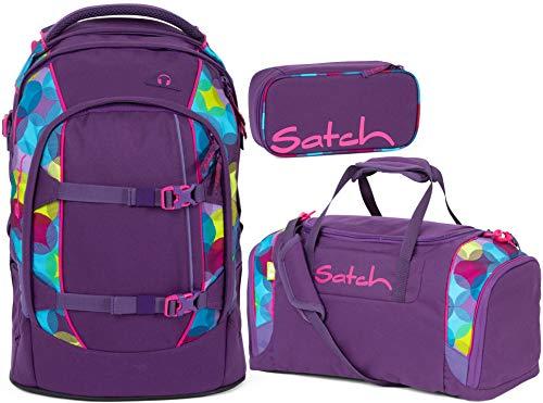 Satch Pack Sunny Beats 3er Set Schulrucksack, Sporttasche & Schlamperbox
