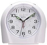 Acctim 14112 Europa Reloj con Alarma, Color Blanco