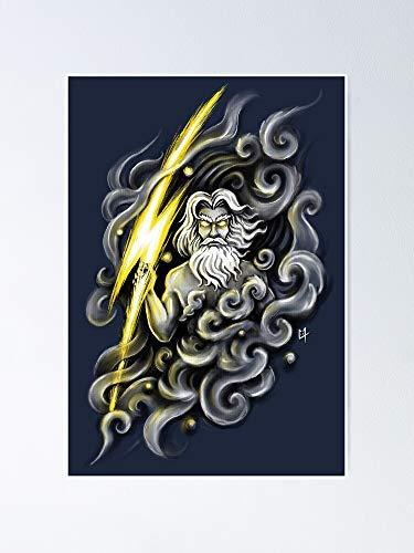 AZSTEEL Póster Zeus 11.7 x 16.5