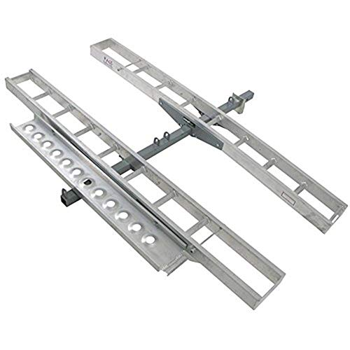 """Double Motorcycle or Dirt Bike Hitch Carrier 600 lb Capacity Aluminum 75"""" Track Length Each"""