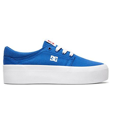 DC Women's Trase Platform TX SE Skate Shoe, Royal Blue, 5 B M US