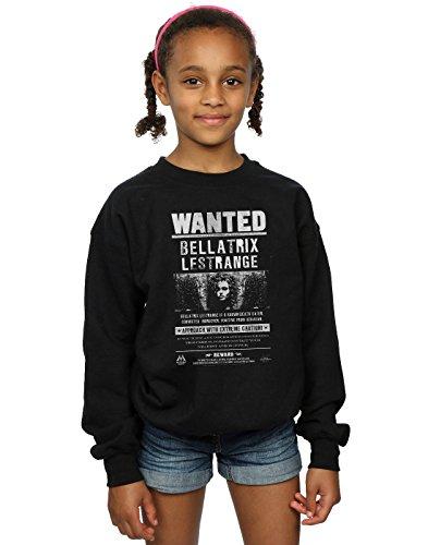 HARRY POTTER niñas Bellatrix Lestrange Wanted Camisa De Entrenamiento 12-13 Years Negro