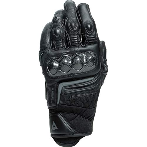 Dainese Motorradhandschuhe kurz Motorrad Handschuh Carbon 3 Handschuh kurz schwarz/schwarz L, Herren, Sportler, Ganzjährig, Leder/Textil
