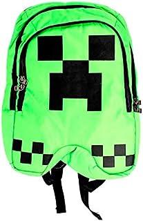 Mochila Creeper Pixel Ajustable para Niños - Color Verde - Unisex