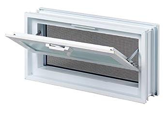 Foto di Finestra di ventilazione per l'installazione in un muro di blocchi di vetro - anziché 3 bicchiere blocco 19x19x8 cm orizzontalmente