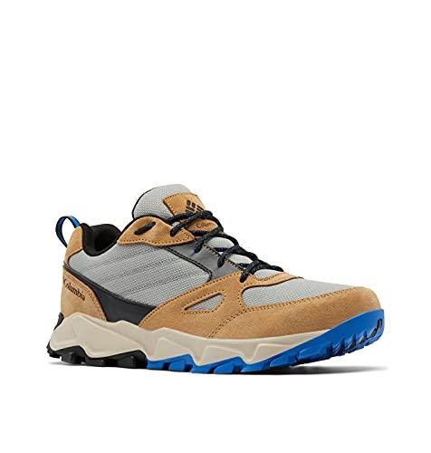 Columbia Men's IVO Trail Waterproof Hiking Shoe, Titanium/Bright Indigo, 10