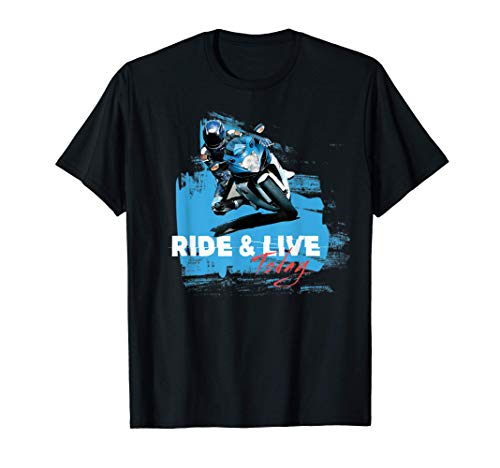 Ride and live today moto idea de regalo vintage Camiseta