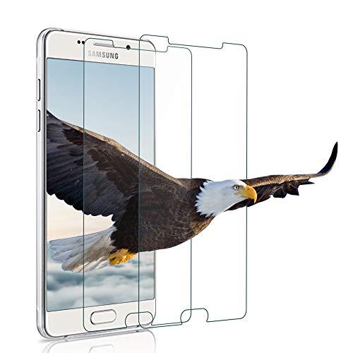 wsiiroon Samsung Galaxy A5 2016 Panzerglas Schutzfolie, 9H Härte Panzerglasfolie, Anti-Kratzen, Anti-Öl, Anti-Bläschen, [2.5D Rund Kante] Displayschutzfolie Samsung A5 2016(2 Stück)