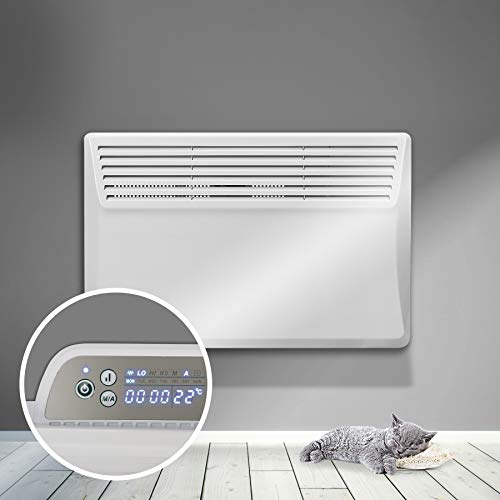 RDN 500W-2000W Electric Panel Heater 24 Hour 7 Day Digital Timer With Thermostat Wall Mounted Or Free Standing Lot 20 Compliant. (1500W)
