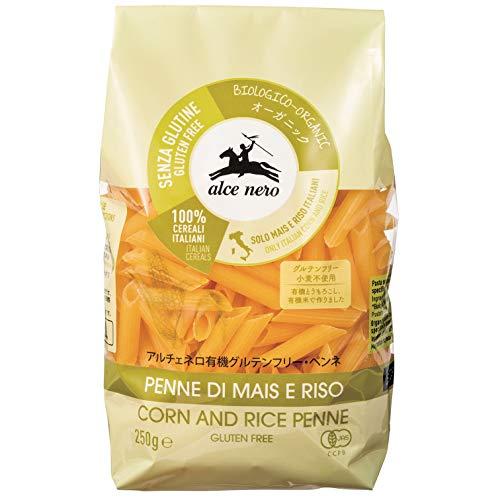 ALCE NERO(アルチェネロ) 有機 グルテンフリー ペンネ 250g (オーガニック イタリア産 小麦不使用)