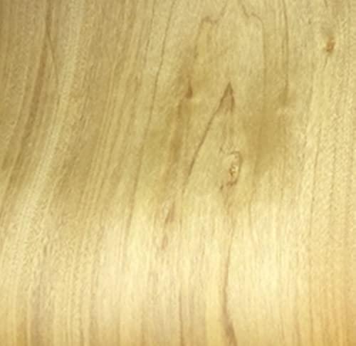 Aibote Fogli da Restauro in Teak Dorato Naturale Impiallacciatura di legno(Dimensioni:12,6 'x100') per Armadietti per Vetrine per Altoparlanti Mobili da Cucina da Tavolo(Taglio Piatto)
