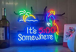 Coconut Tree and Parrot Metal Frame Neon Sign 17