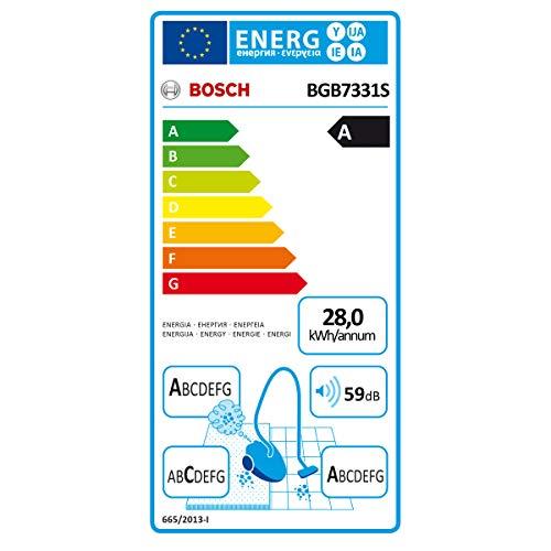 Bosch GL70 Ergomaxx'x stofzuiger met zak, 650 W, rood