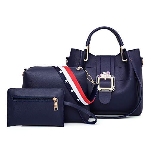 QBWZ Europäischen und amerikanischen Stil neue Handtaschen Frauen 2019 Mädchen Anzug Tasche beliebte Rucksäcke geeignet für alle Gelegenheiten wie,Blue,26 * 12 * 25cm