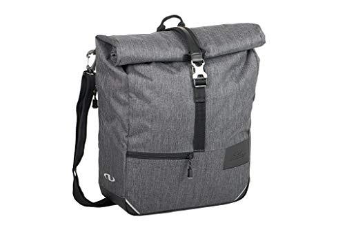 Norco Unisex– Erwachsene Fintry Gepäckträgertasche, Tweed-grau, 38x36x13cm