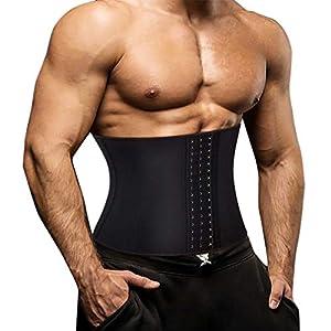 Sawaiko腰サポーター サポートベルト 筋トレコルセット 通気性抜群 ダイエット 腹筋トレスポーツ いたみ緩和 矯正 保護 加圧 伸縮 メンズ (ブラック, XL)