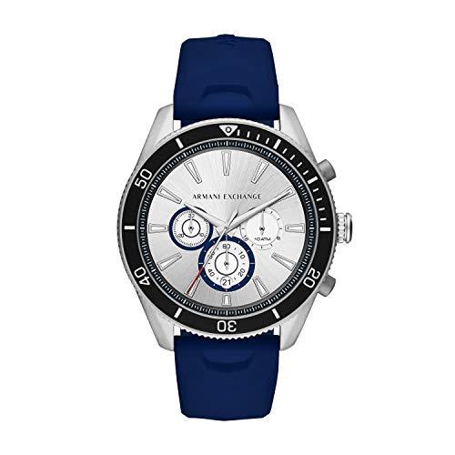 Armani Exchange Reloj Analógico para de los Hombres de Cuarzo con Correa en Silicona AX1838