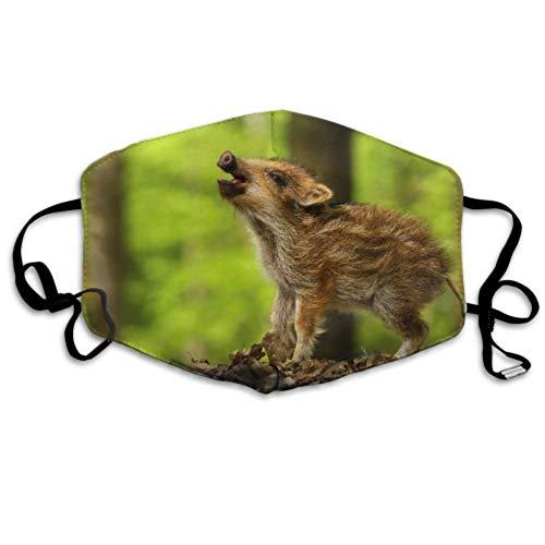 Baby Wildschwein Calling Cover Mund Gesicht Abdeckung Staubschutz