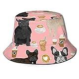 GMGMJ Café francés unisex sombrero de cubo sombreros de verano al aire libre pescador gorras