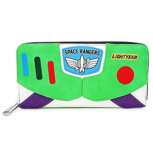 Loungefly x Disney Pixar Toy Story Buzz Lightyear Zip-Around Wallet, Multi-colored, Standard