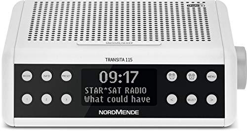 Nordmende Transita 115 DAB Radiowecker (DAB+, UKW, Snooze Funktion, Wecker, Sleeptimer) weiß