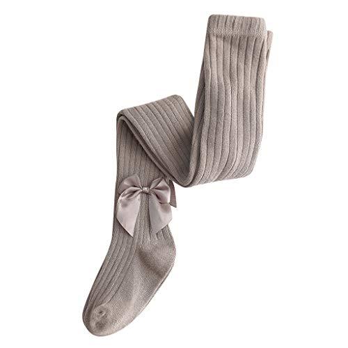 Moneycom (6M-8Y bebé niño niño niña arco medias sólido arco caliente panty manguera pantalones pantalones mezcla algodón