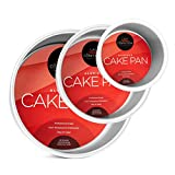 Last Confection 3-Piece Round Cake Pan Set - Includes 4', 6' and 8' Aluminum Pans 3' Deep