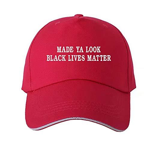 DFGHA Schwarzer Lives Matter Hut, Verstellbare Baseballmütze Aus Baumwolle Mit Digitaler Wärmeübertragung, Coole Vintage-Mütze, Polohüte Für Frauen, Männer (J)