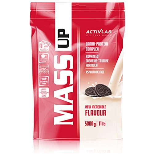 Activlab Mass Up Mass Gainer pack of 1 Complesso di carboidrati e proteine utile nella costruzione di massa (Cookies, 5kg)