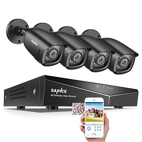 SANNCE 8CH 1080N DVR CCTV Camera System Surveillance Kit w/...