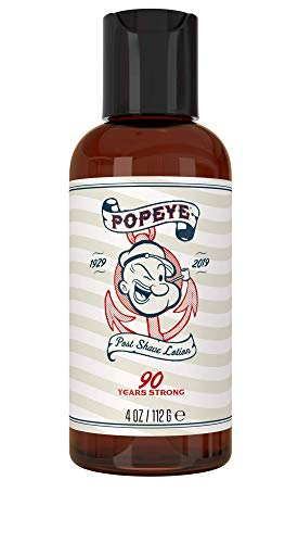 Post Shave Lotion for Men by Popeye Shaving Co - 4 oz Sandalwood - Nourishing & Soothing After Shave Balm