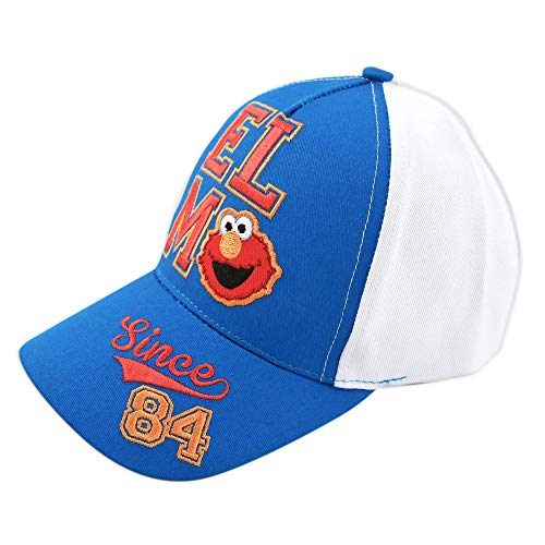 Sesame Street Toddler Kids Baseball Hat for Boys Ages 2-7 Simpsons Cap, White Elmo, Age 2-4 Years