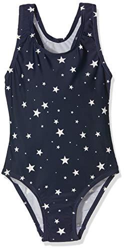 Sanetta Sanetta Mädchen Swimsuit Badeanzug, Blau (Ueprint 50209), (Herstellergröße: 104)